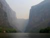 Emblême du Chiapas : l'entrée du Canyon du Sumidero