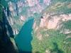 Vue plongeante sur canyon