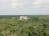 Vue panoramique en haut de la pyramide castillo