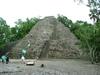 Pyramide de Coba sous la pluie