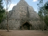 Joli temple circulaire du site de Coba