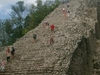 Temple de Coba difficile à monter