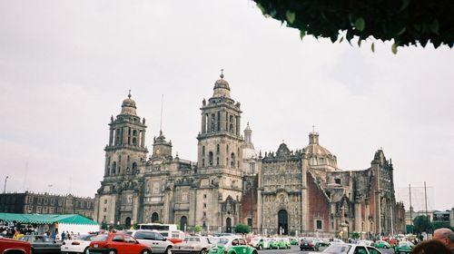 La grande cathédrale se trouvant sur le Zocalo