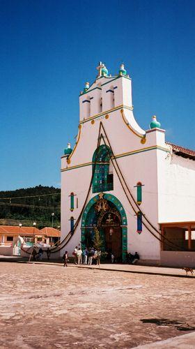 Une église que l\'on peut trouver dans la plupart des villages mexicains