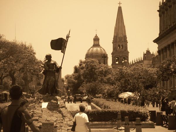Aux alentours de la Plaza Tapatia. Guadalajara