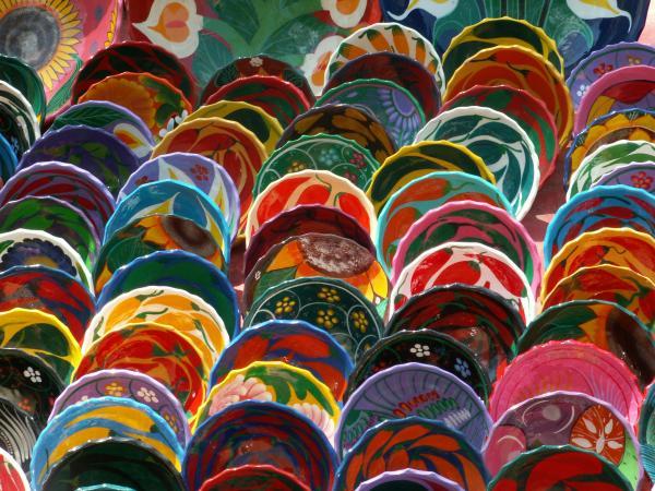 Couleur des assietes à Chichen Itza