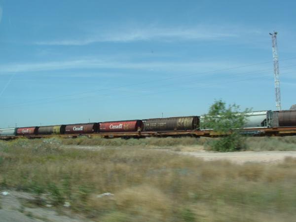 Train traversant le désert du Chihuahua