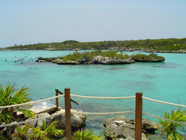 Les lagons du parc Xel-Ha