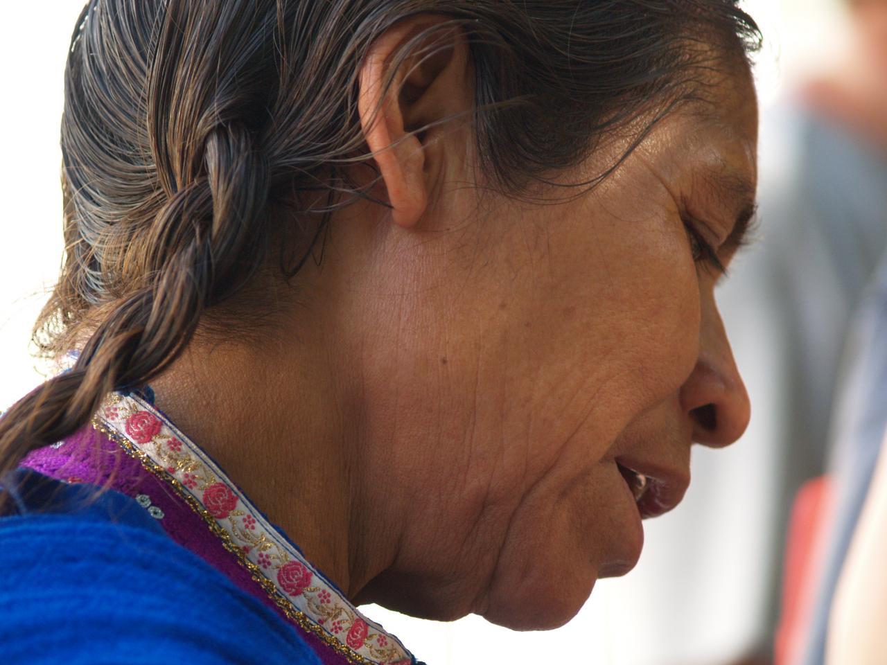 Femme du Yucatan sur la place de Mérida