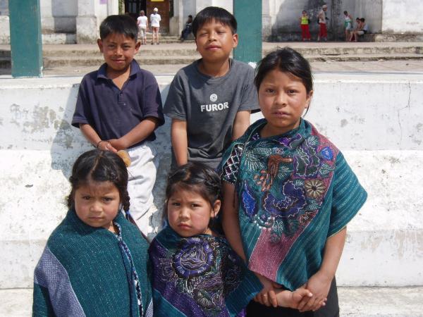 Groupe d\'enfants dans les Chiapas