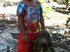 Petite fille Maya d'un village pres de Coba