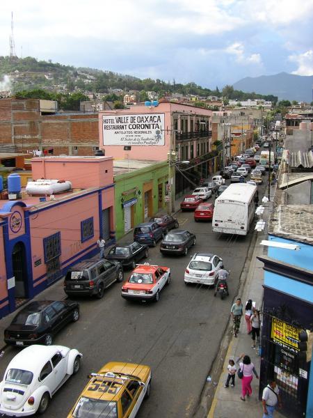 Une rue de Oaxaca.