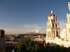 Vue du pic d'Orizaba de la terrasse de l'hôtel.
