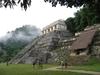 Palenque s'éveille au petit matin dans la brume