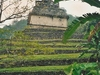 Bâtiment de Palenque dans la nature