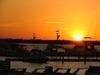 Couche de soleil sur la lagune...