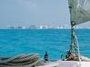 Cancun vu de la mer