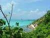 Vue sur les eaux turquoises et les plages d'Isla Mujeres