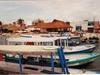 Quelques barques sur l'île Mujeres