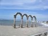 A Puerto Vallarta, l'arche de la Maleçon où les spectacles sont souvent donnés.