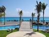 Vue sur la mer d'un hotel de Cancun