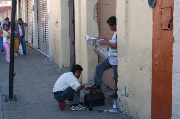 Dans les rues de Oaxaca.