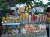 Fruits frais sur Plage de Playa del Carmen