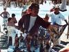 Marchand d'artisanat mexicain sur la plage