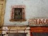 L'enseigne d'une taqueria pres de Mexico