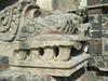 Tete de jaguar ornant un temple