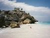 Tulum et sa plage qui le borde.