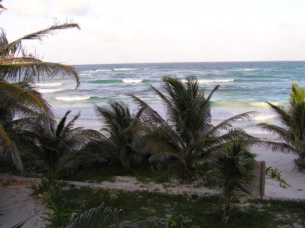 La mer vu d\'un des bungalows de Los Lirios