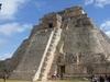 Imposante pyramide à Uxmal dédié au dieu Chaac